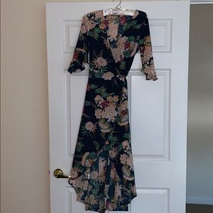 High low floral wrap dress! Never worn!